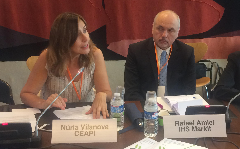 Núria Vilanova defiende el libre comercio frente a las tentaciones proteccionistas en el Foro de la OCDE sobre Latam