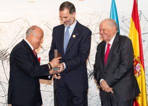 Entrega del galardón a Enrique García en La Antigua
