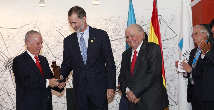 El Rey Felipe VI entrega en La Antigua los premios empresariales 'Enrique V. Iglesias' a Alejandro Bulgheroni y Enrique García