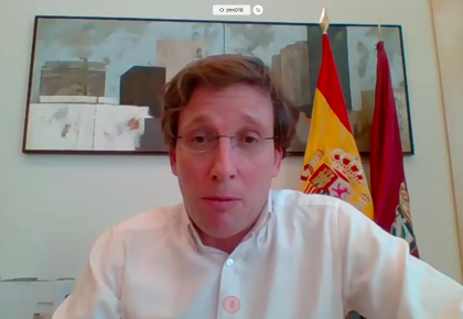 José Luis Martínez-Almeida, alcalde de Madrid, ante empresarios y socios de CEAPI, apela a la Constitución para superar la crisis del coronavirus