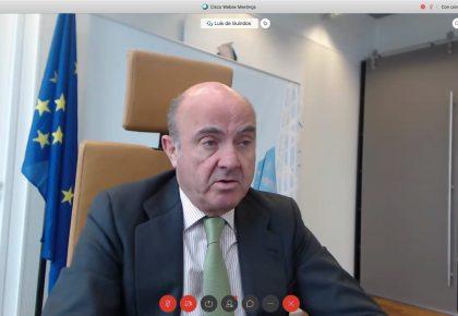 Luis de Guindos, vicepresidente del BCE, destaca ante empresarios y socios de CEAPI, la importancia de una respuesta paneuropea conjunta de la Unión Europea para afrontar la crisis provocada por el Covid-19